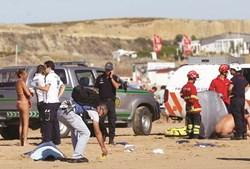 Sofia e José Lima foram atingidos mortalmente pela avioneta na praia de S. João da Caparica