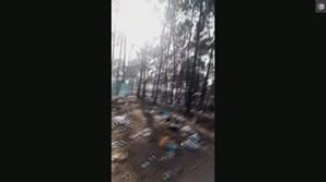 Festivaleiros deixaram lixo no chão