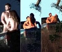 Grazi Massafera foi fotografada enquanto gravava cenas de sexo com o ator Rafael Cardoso