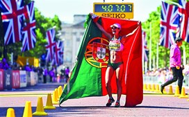 Inês Henriques sagrou-se campeã do mundo em Londres nos 50 quilómetros marcha, onde bateu o recorde do mundo
