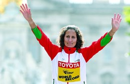 A atleta portuguesa Inês Henriques sagrou-se campeã do Mundo em Londres nos 50 quilómetros de marcha