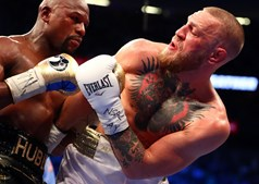 Mayweather e Conor McGregor no combate do século