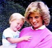 Diana com o príncipe William