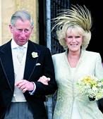 Príncipe Carlos e Camilla Parker-Bowles casaram-se em 2005