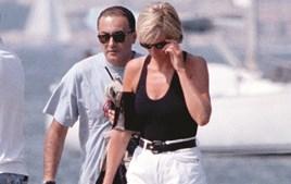 A princesa e Al-Fayed em St. Tropez em 1997