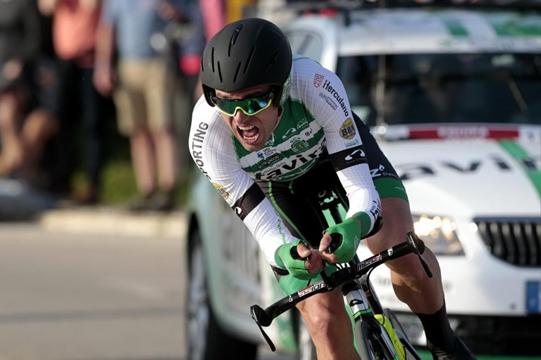 O ciclista Alejandro Marque, da equipa Sporting-Tavira