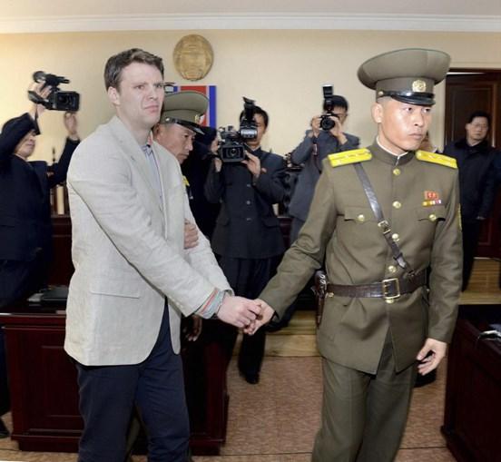 Otto Warmbier foi detido na Coreia em 2016