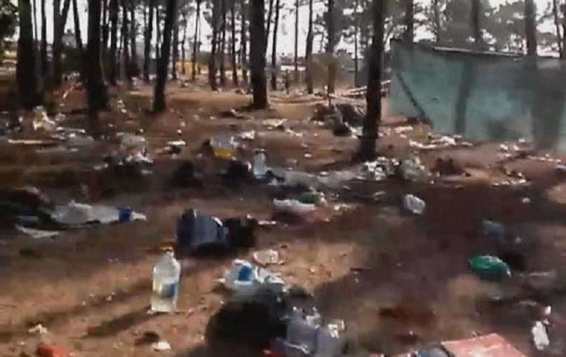 Festivaleiros deixam lixo no chão no Sudoeste