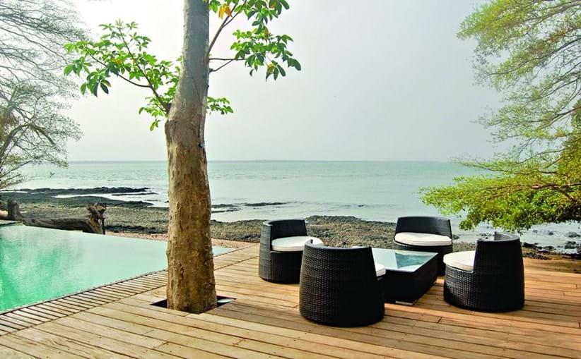 O resort de luxo Ponta Anchaca localiza-se na Ilha de Rubane