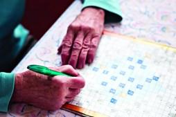 As palavras cruzadas obrigam a uma maior concentração e associação de factos. É uma das atividades lúdicas mais úteis na prevenção das demências