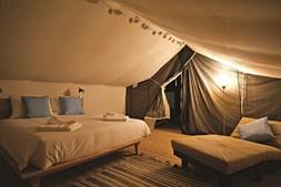 Interior das tendas canadianas