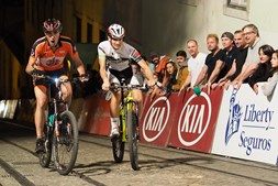 A corrida de bicicleta Subida à Glória, em Lisboa