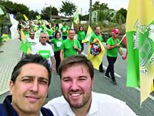 Luís Soares, (à dir.) é o candidato do PS à freguesia de Caldas das Taipas