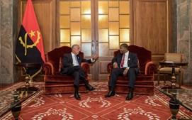 Marcelo Rebelo de Sousa com o presidente angolano, João Lourenço