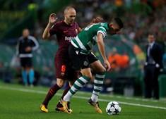 Barcelona veio até Alvalade jogar com o Sporting para a Champions