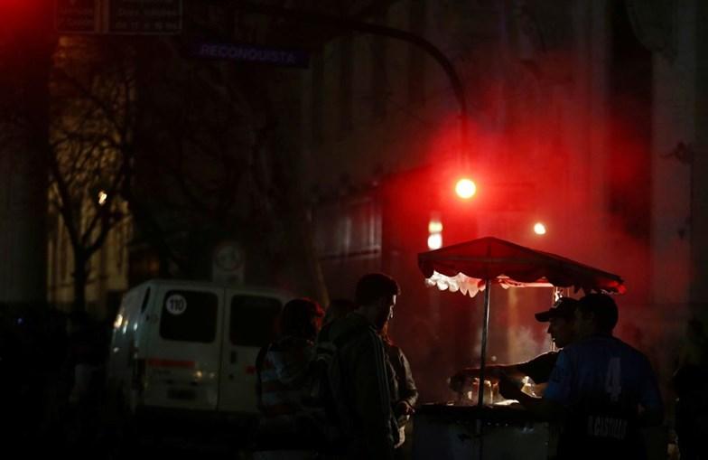 Incidente em manifestação na Argentina
