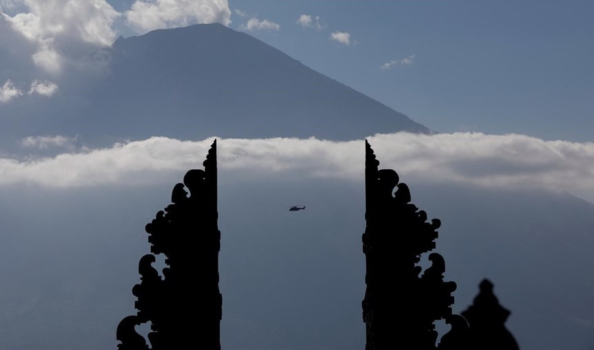 Vulcão Agung, na ilha de Bali, Indonésia