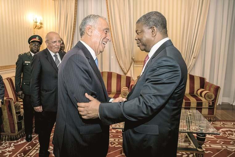 Marcelo foi recebido pelo presidente angolano João Lourenço após a tomada de posse