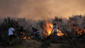 População em desespero com chamas no Norte e Centro