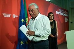 António Costa celebra vitória do PS na noite eleitoral