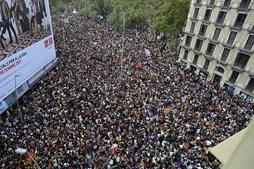Protestos na Catalunha em dia de greve geral