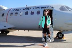 Seleção de Portugal viajou para Andorra com a Força Aérea