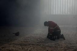 Bombeiro em dificuldades no incêndio na Lousã
