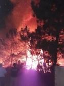 Populares assutados com o incêndio em Santo Isidoro, Mafra