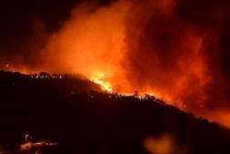 Imagem do incêndio na Ericeira partilhada no facebook