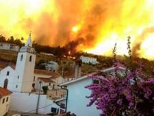 Incêndio lavra na localidade do Troviscal, na Sertã