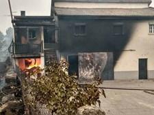 Incêndio em Oliveira do Hospital atingiu casas