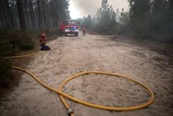 Bombeiros combatem incêndio no Pinhal de Leiria