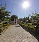 Os jardins, bem no centro da cidade, são locais com sombras e espaços verdes