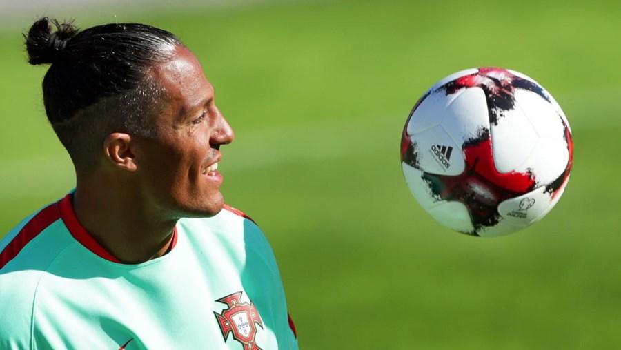 Bruno Alves num treino da Seleção em 2017