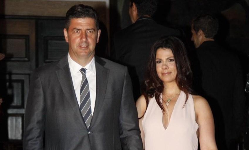 Rui Vitória e a mulher Susana Barata