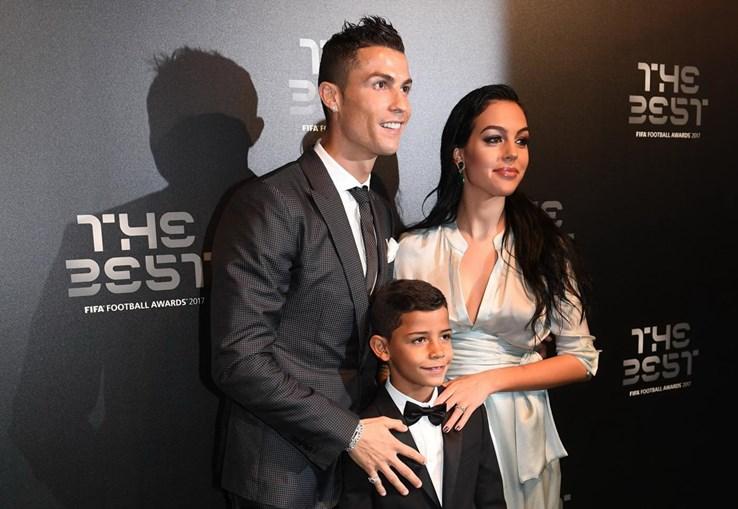 Cristiano Ronaldo com Georgina e o filho Cristianinho