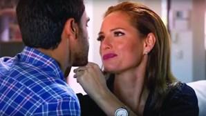 Fernanda Serrano em cenas ousadas na novela da TVI
