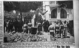 Jornais da época retratam o ataque de que Salazar foi alvo, em 1937