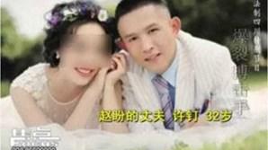 A vítima e o agressor, no dia de casamento