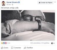 Daniel Oliveira homenageou João Ricardo online
