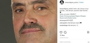 Reação da atriz Luísa Ortigoso