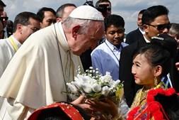 Papa Francisco em território birmanês