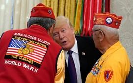 Trump recebeu soldados de origem Navajo na Casa Branca