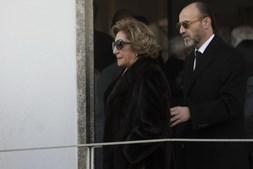 Fernanda Amorim, viúva de Américo Amorim, à chegada para o funeral de Belmiro de Azevedo