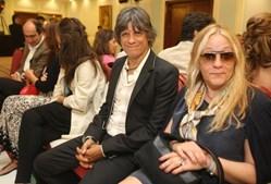 Zé Pedro com a mulher, Cristina Ávides