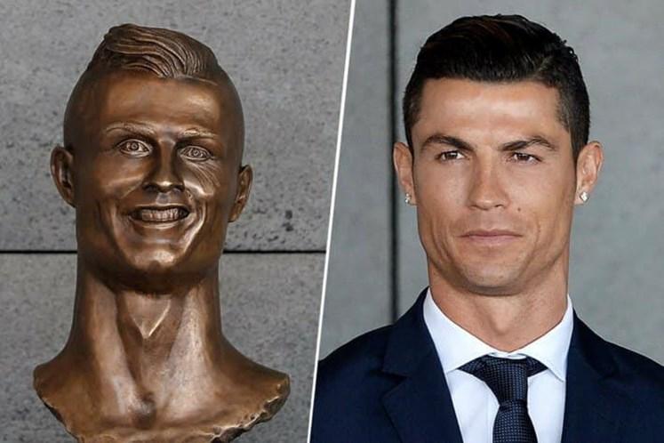 0b2db24b75d1c Há um novo busto de Cristiano Ronaldo e desta vez agrada os fãs ...