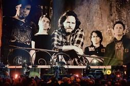 Os Pearl Jam, em 2017