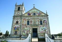 Fachada da igreja de Válega, freguesia de Ovar