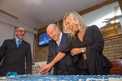 Pinto da Costa com Cláudia Campo