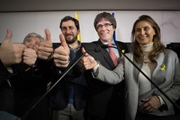 Puigdemont reage aos resultados das eleições na Catalunha
